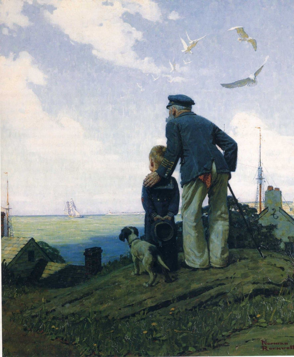 Norman Rockwell. Far from home