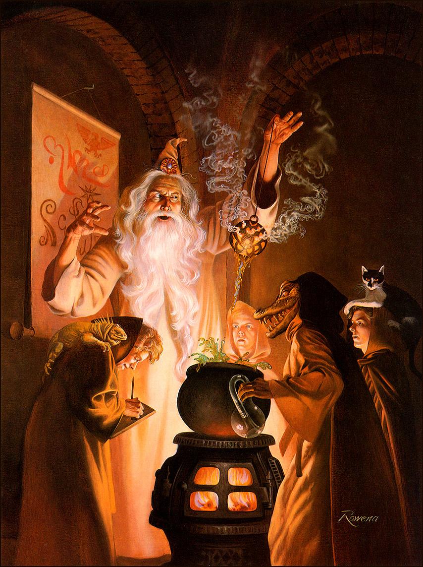 Rowena Morrill. Alchemy and Academy
