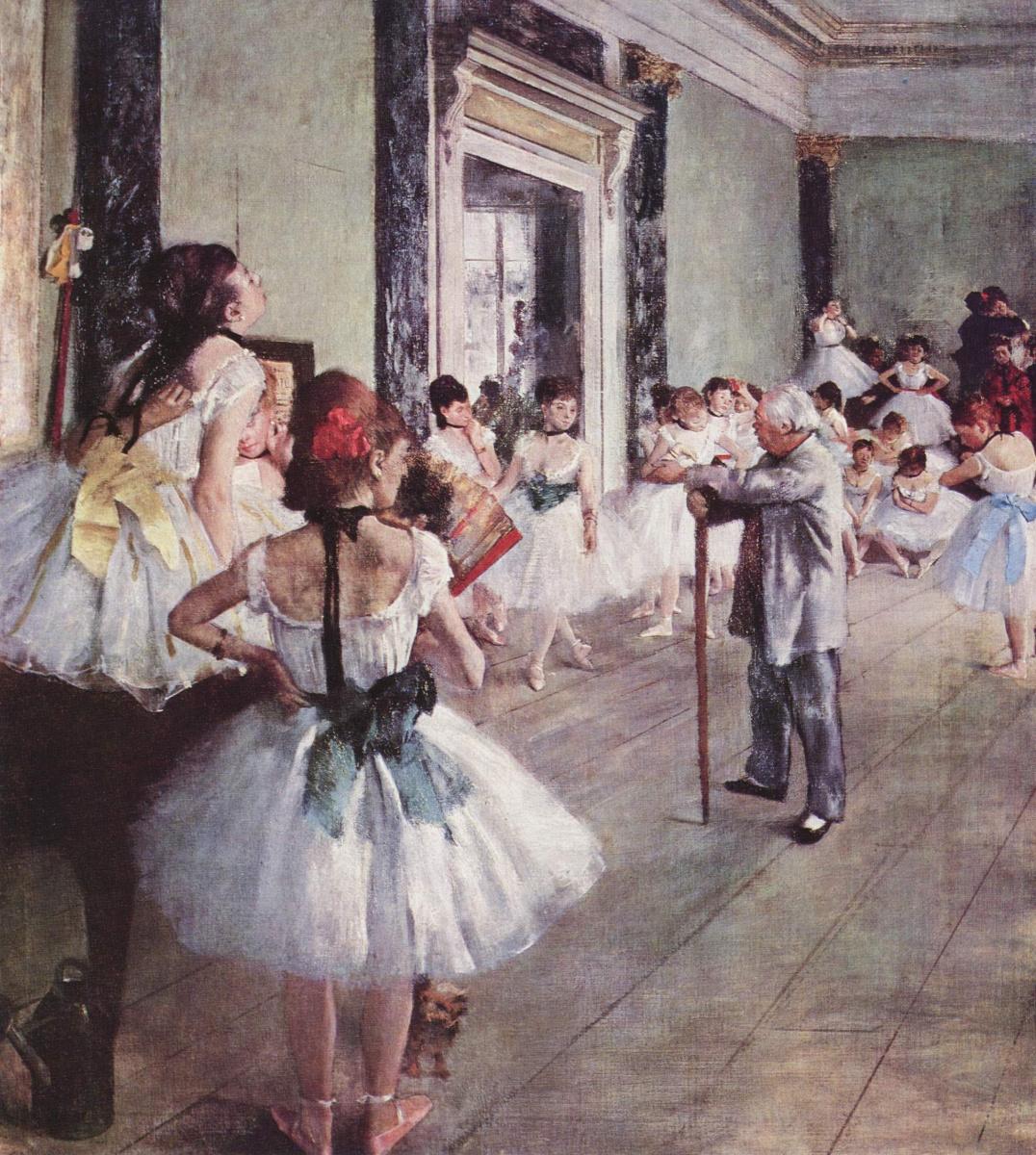 Edgar Degas. Dance class (Ballet class)