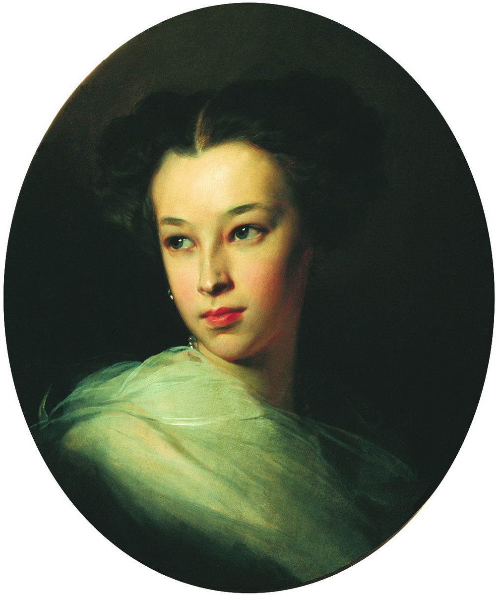 Ivan Kuzmich Makarov. Portrait of N. A. Pushkina. 1849