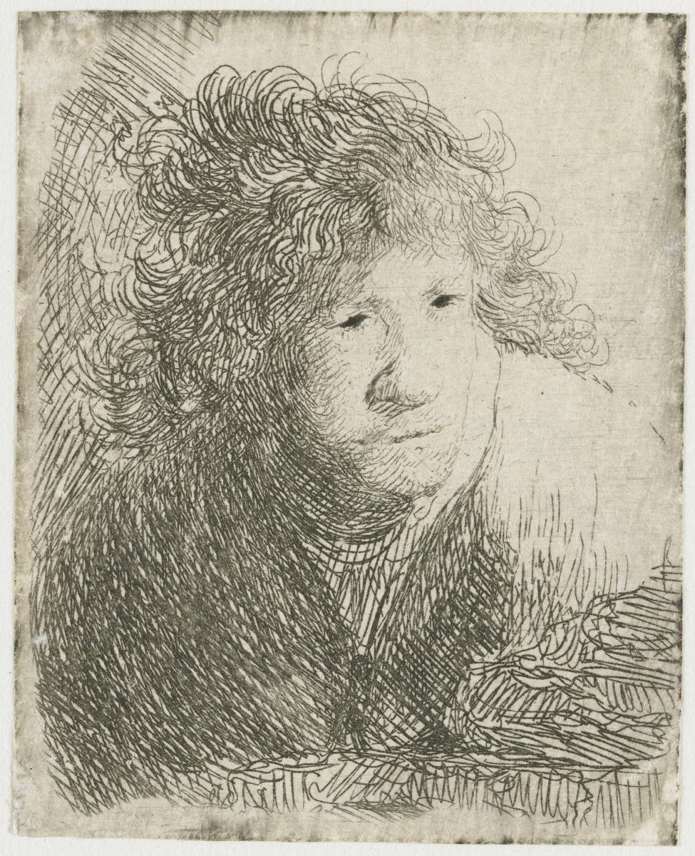 Рембрандт Харменс ван Рейн. Автопортрет в позе поджидающего