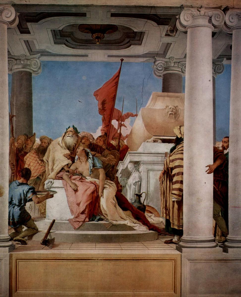 Джованни Баттиста Тьеполо. Принесение в жертву Ифигении. Фрески из виллы Валлмарана, Виченца