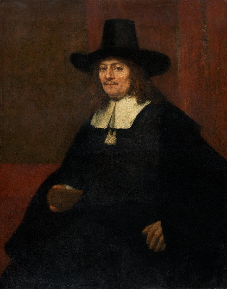 Rembrandt Harmenszoon van Rijn. Portrait of a man in tall hat