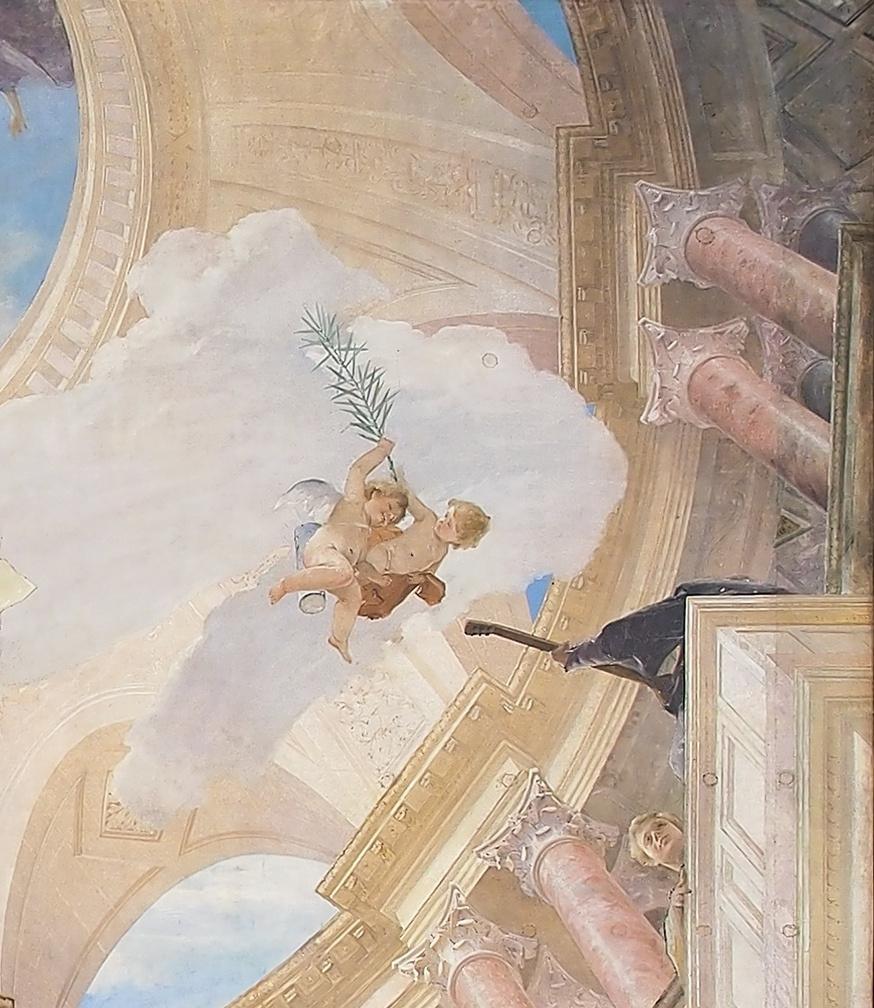 Михай Либ Мункачи. Апофеоз Ренессанса. Роспись потолка Венского музея истории искусств. Фрагмент IV