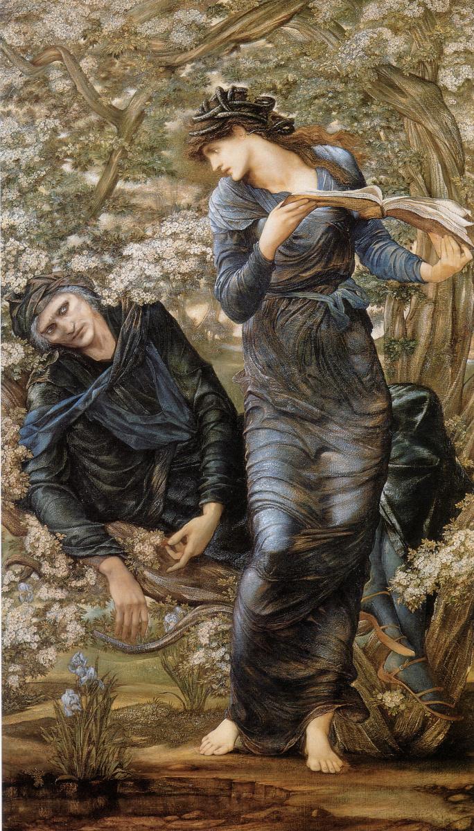 Edward Coley Burne-Jones. Enchanted Merlin