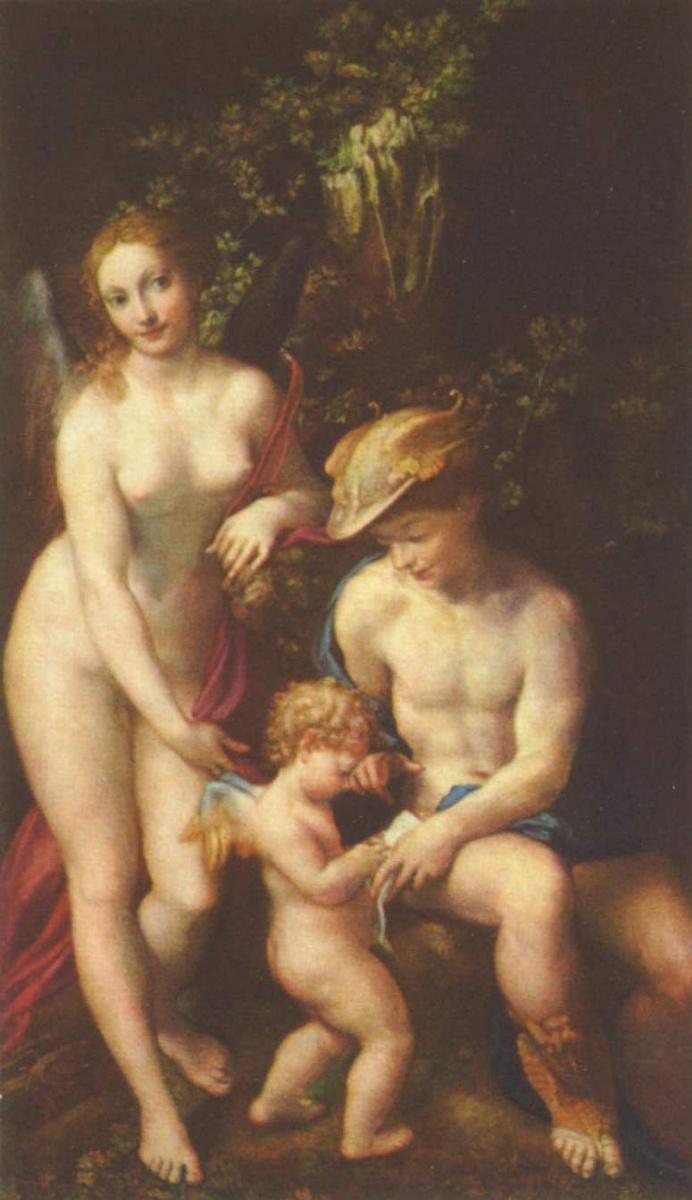 Антонио Корреджо. Венера, Меркурий и Амур