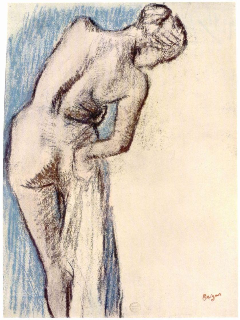 Эдгар Дега. Обнаженная после ванны