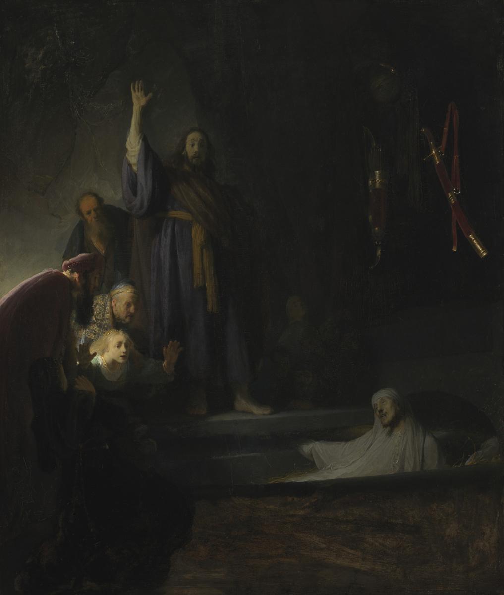 Рембрандт Харменс ван Рейн. Воскрешение Лазаря