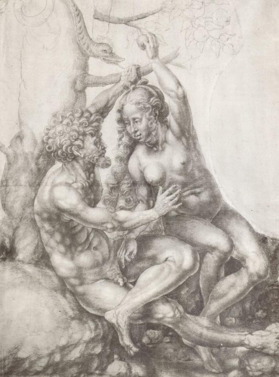 Ян Госсарт. Адам и Ева