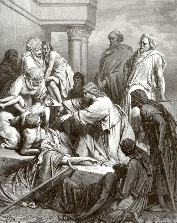 Поль Гюстав Доре. Иисус Христос исцеляет больных