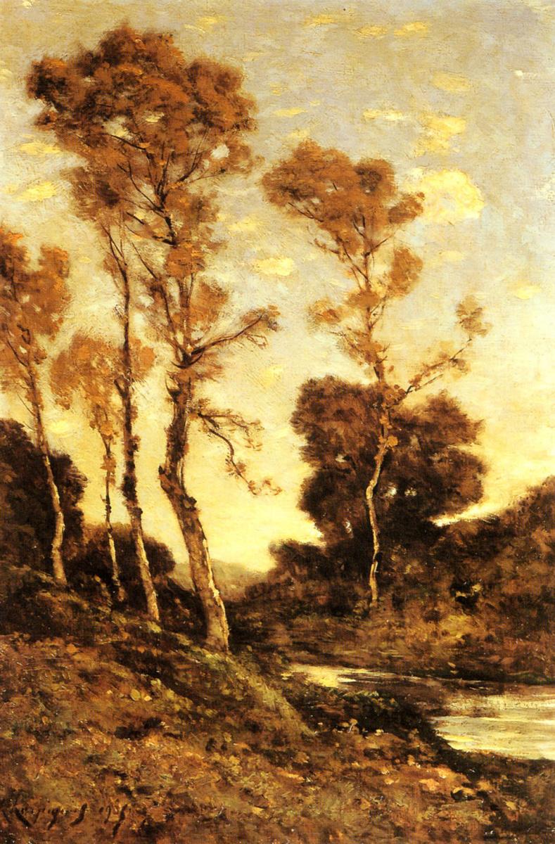 Анри-Жозеф Харпигниес. Осенний пейзаж