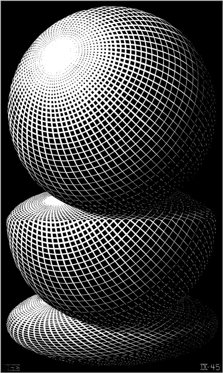 Мауриц Корнелис Эшер. Три сферы 1