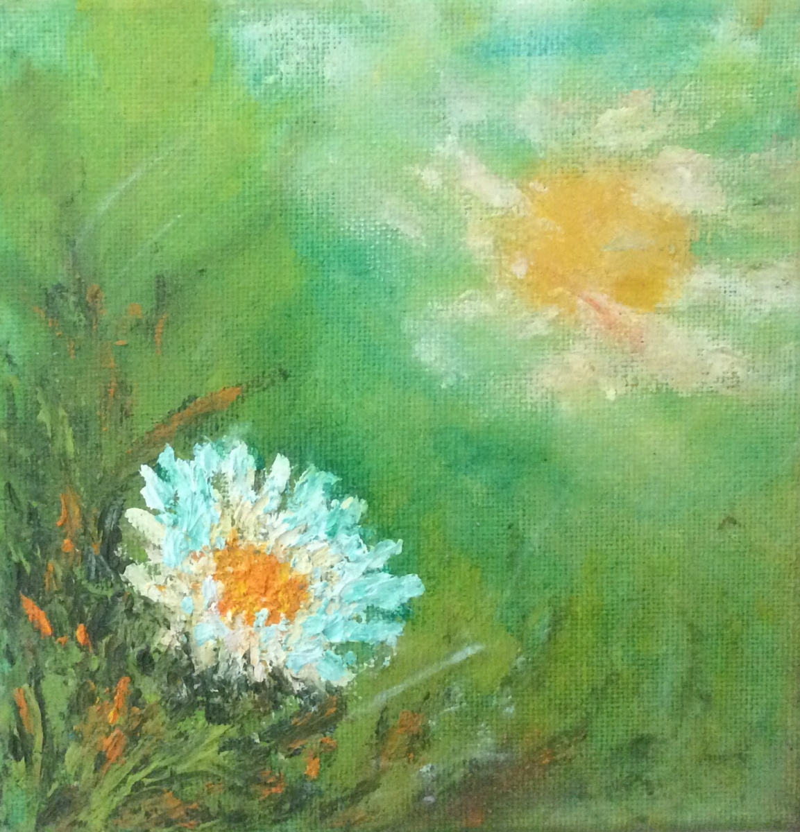 Rita Arkadievna Beckman. Sun and daisy