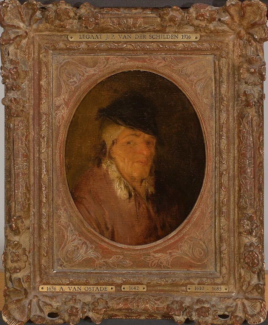 Adrian Jans van Ostade. Portrait of a man