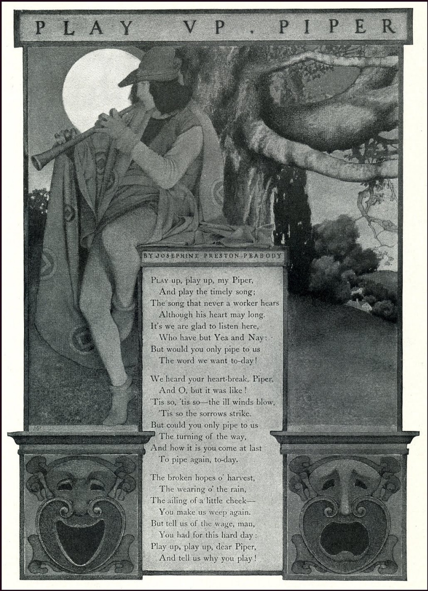"""Максфилд Пэрриш. Дизайн страницы для журнала """"Скрибнер и столетие"""" II"""