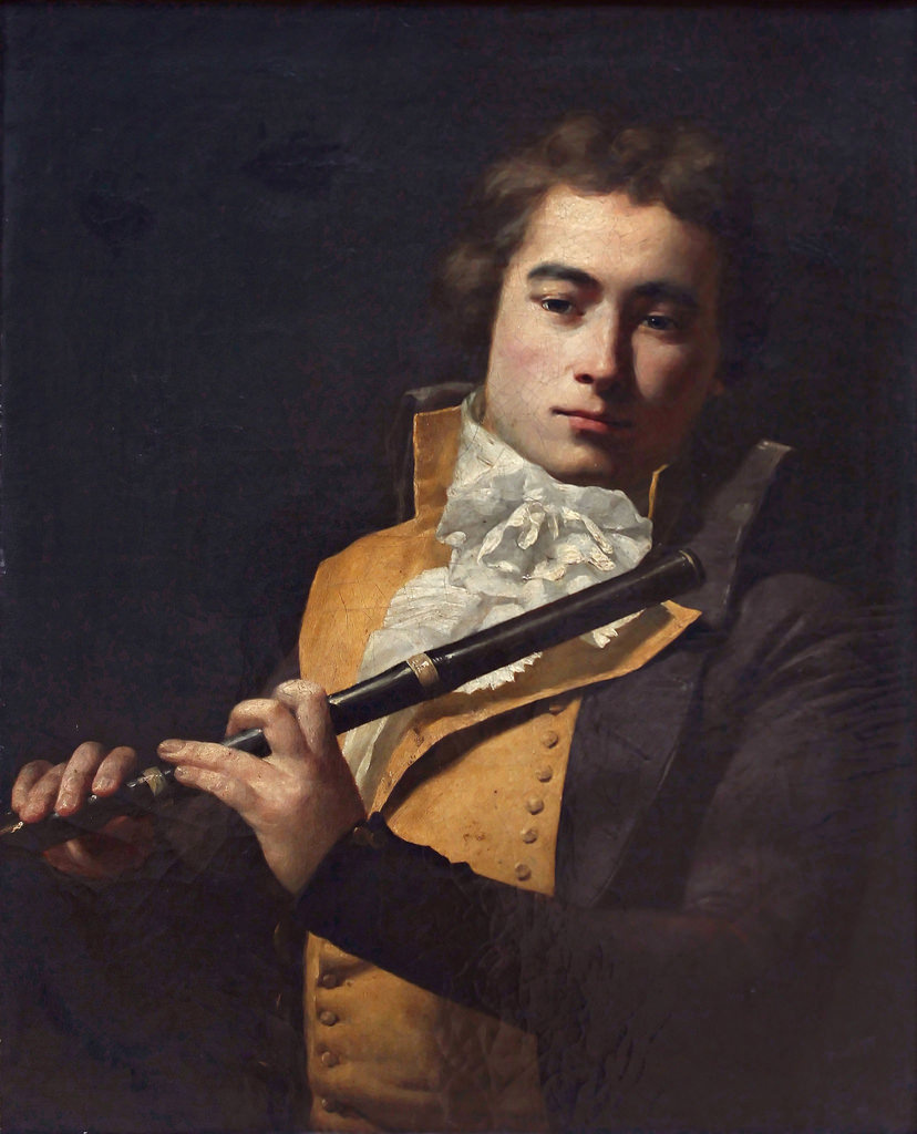 Jacques-Louis David. Portrait of flutist françois Devenne