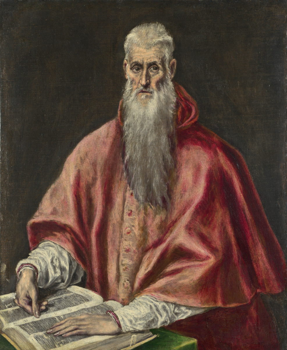 Доменико Теотокопули (Эль Греко). Святой Иероним, как кардинал