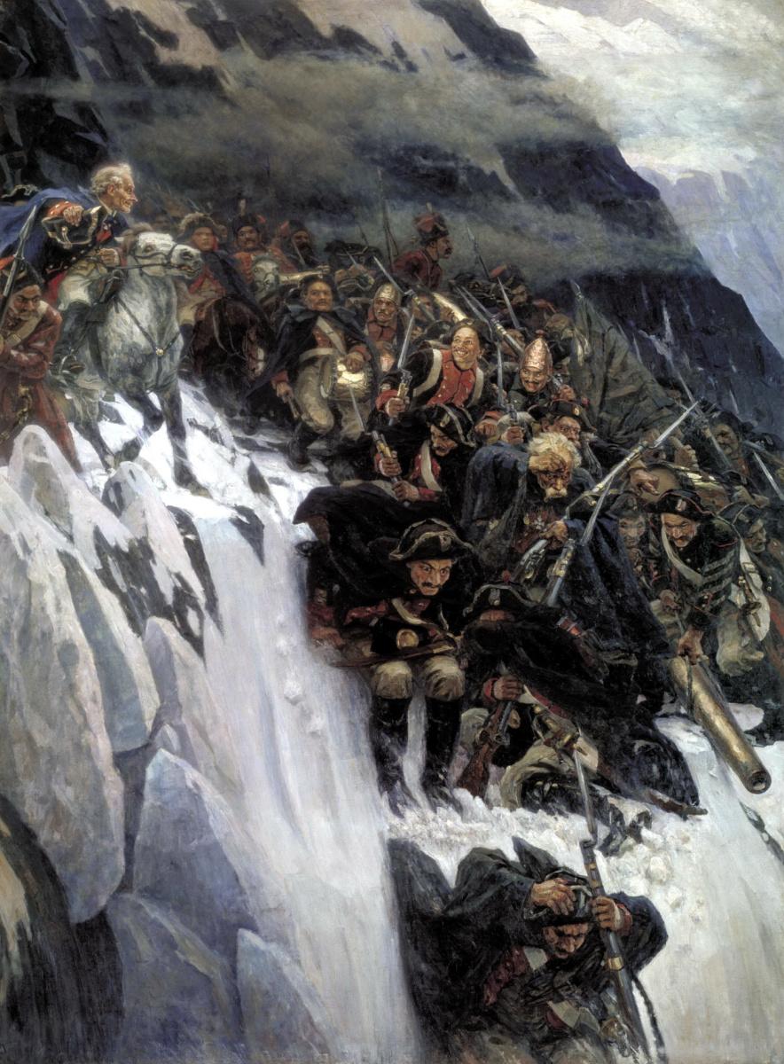 Василий Иванович Суриков. Переход Суворова через Альпы  в 1799 году