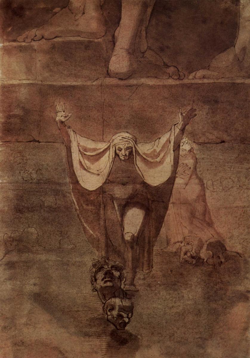 Иоганн Генрих Фюссли. Данте и Виргилий на льду Коцита