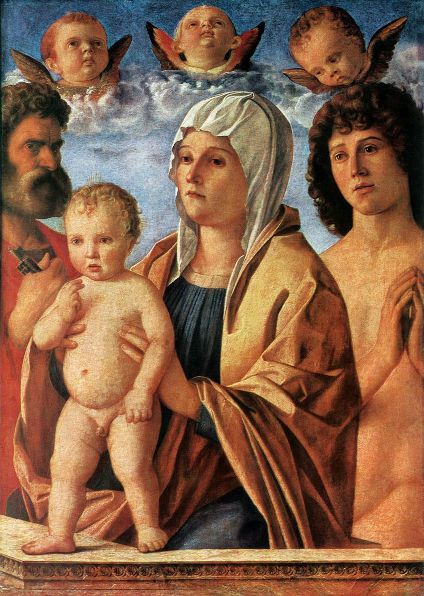Madonna and Child with Saints Peter and Sebastian