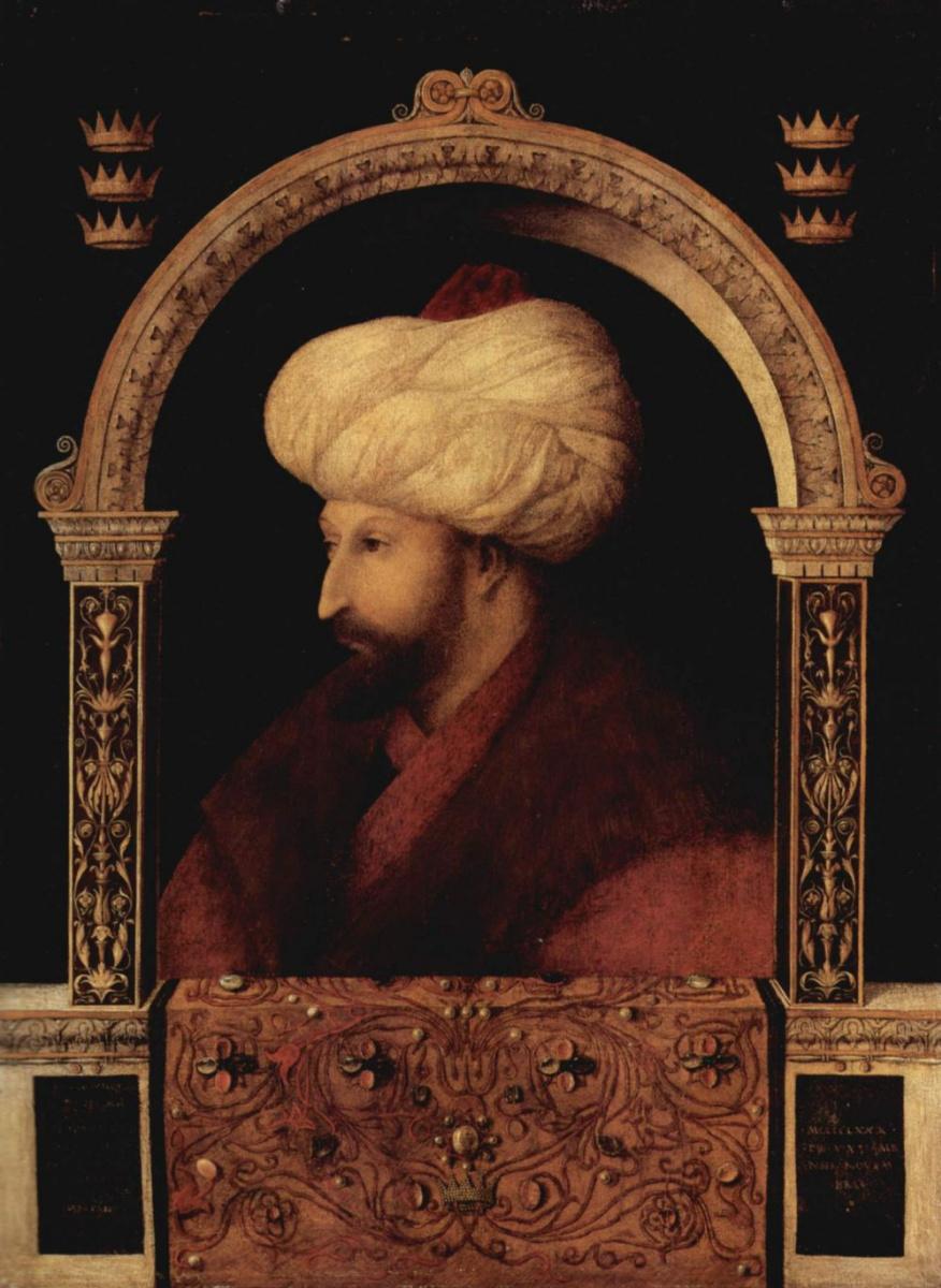 Джентиле Беллини. Портрет султана Мухамеда II
