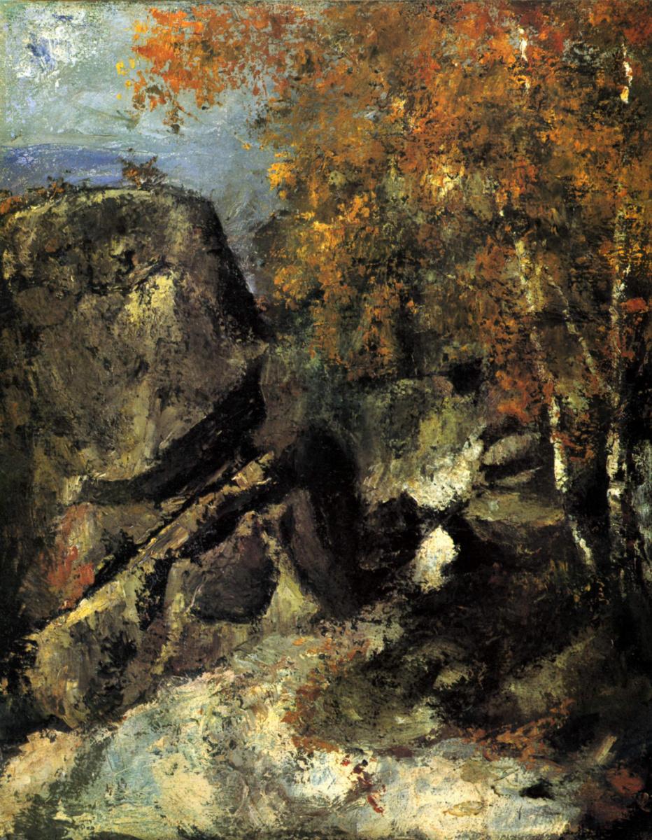 Поль Сезанн. Скалы в лесу Фонтенбло