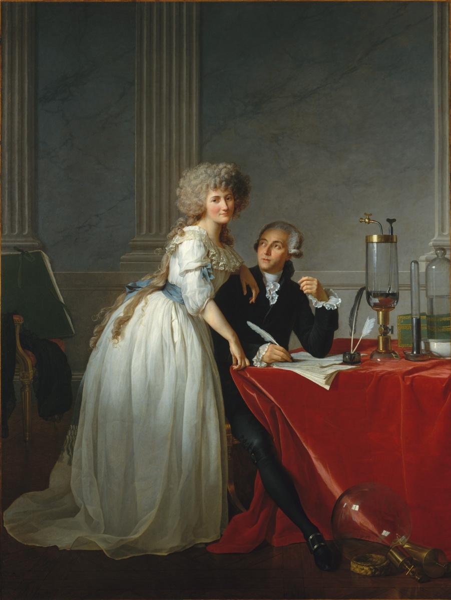 Jacques-Louis David. Portrait of Antoine Laurent Lavoisier and his wife Marie Anne Pierrette Pulse