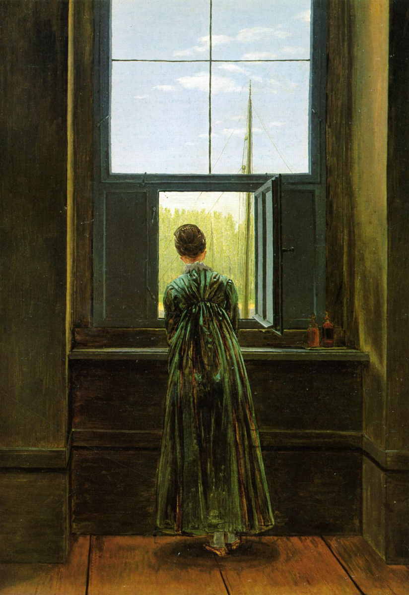 Caspar David Friedrich. The woman at the window