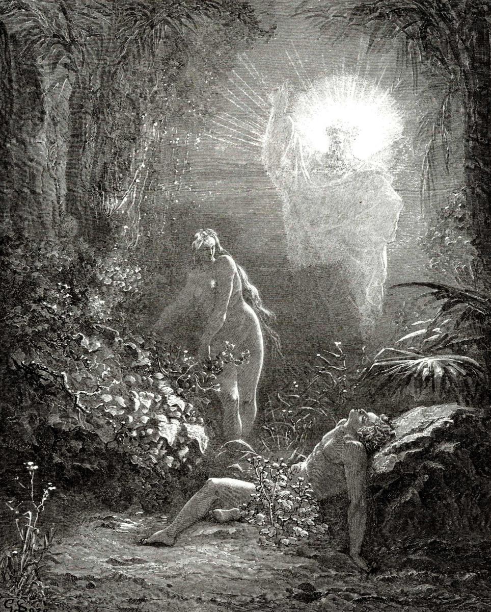 Поль Гюстав Доре. Иллюстрации к Библии: сотворение Евы