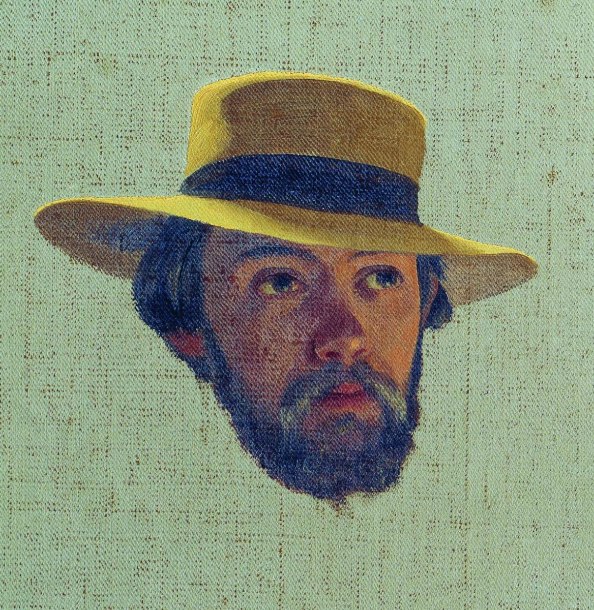 Fedor Andreevich Bronnikov. Self portrait. 1858 Study