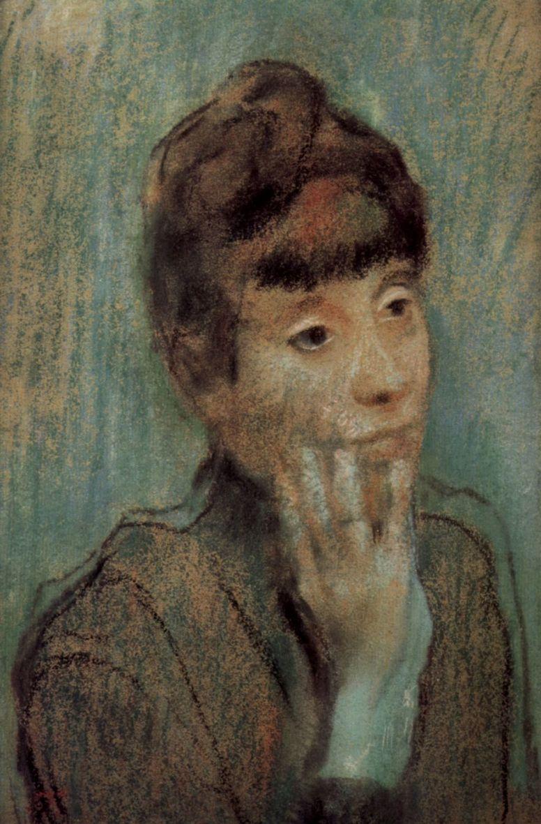 Эдгар Дега. Портрет женщины в зеленой блузе