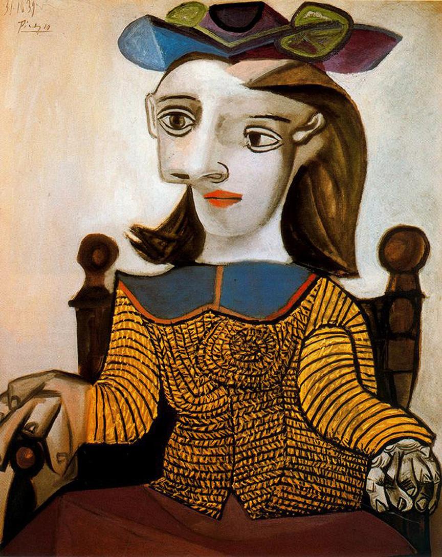 Pablo Picasso. Yellow shirt. Dora Maar