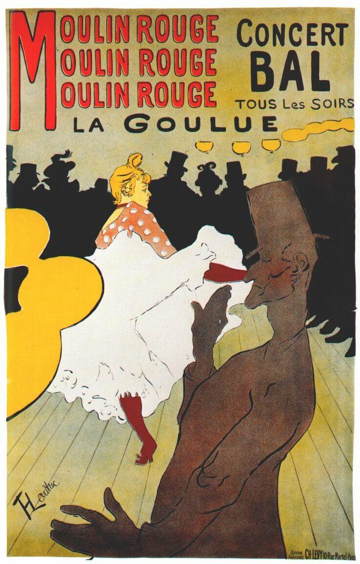Henri de Toulouse-Lautrec. Moulin Rouge-La Goulue