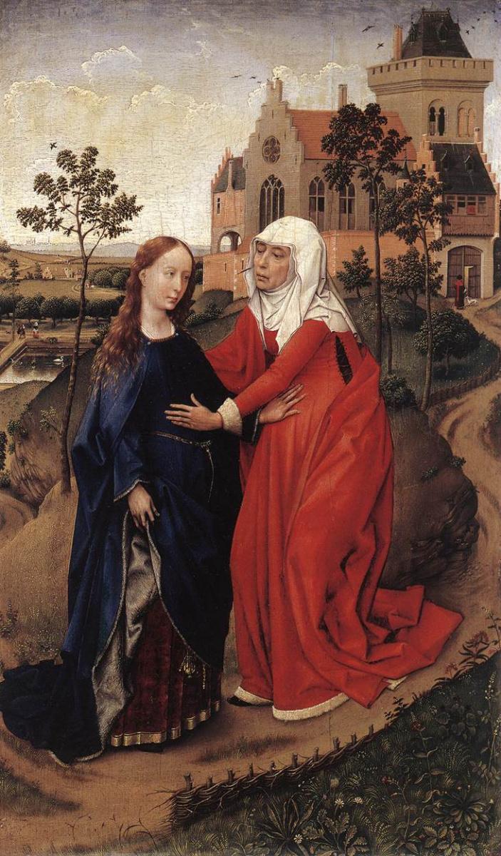 Рогир ван дер Вейден. Встреча Девы Марии и Елизаветы