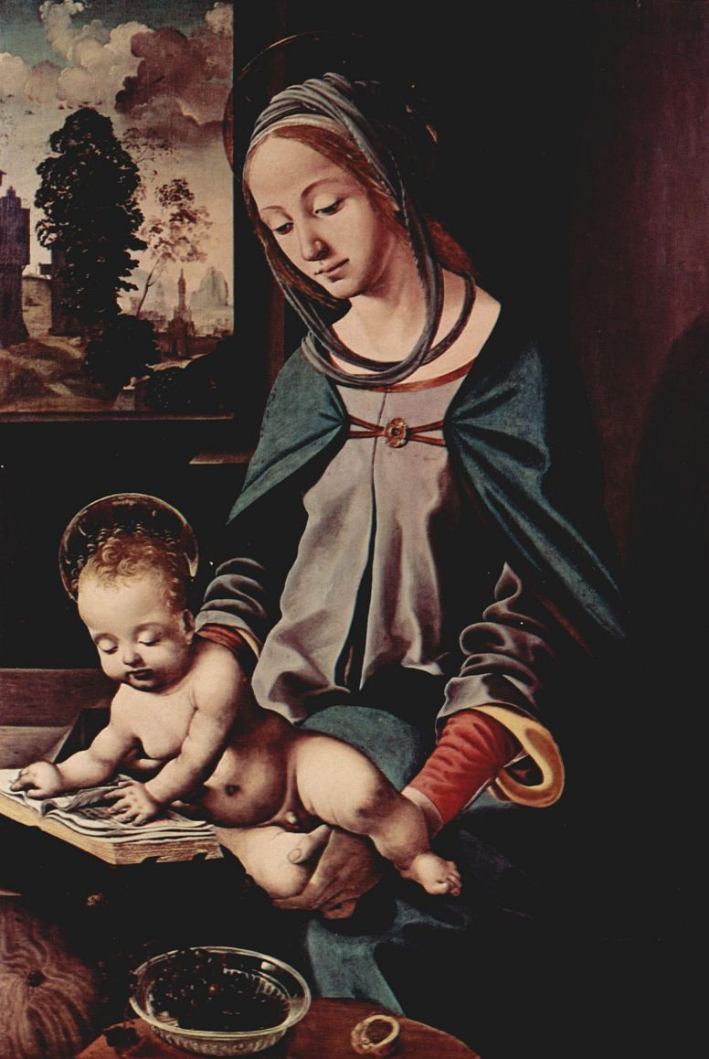 Пьеро ди Козимо. Мадонна с читающим младенцем Христом