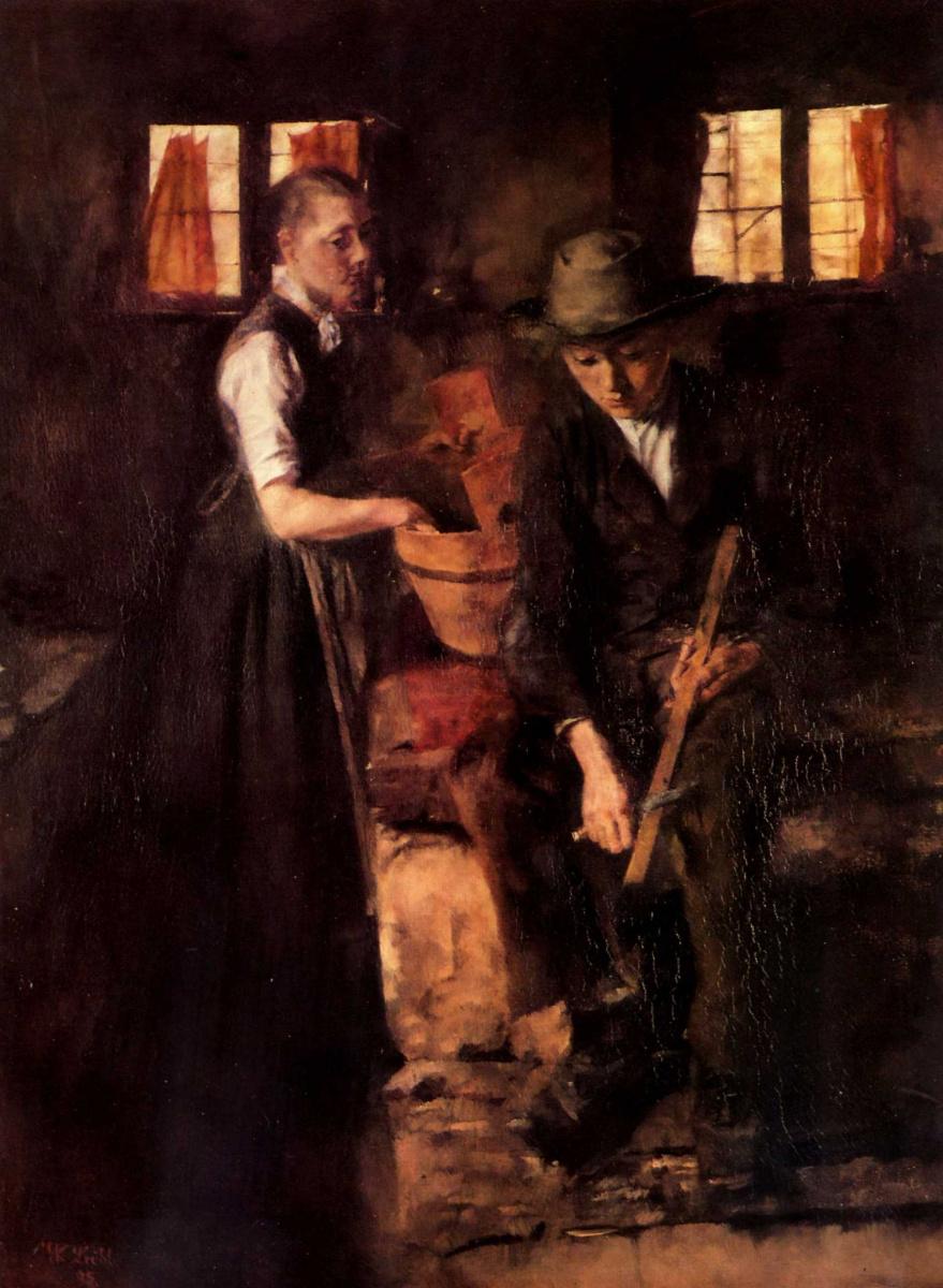 Вильгельм Мария Хубертус Лайбль. На кухне