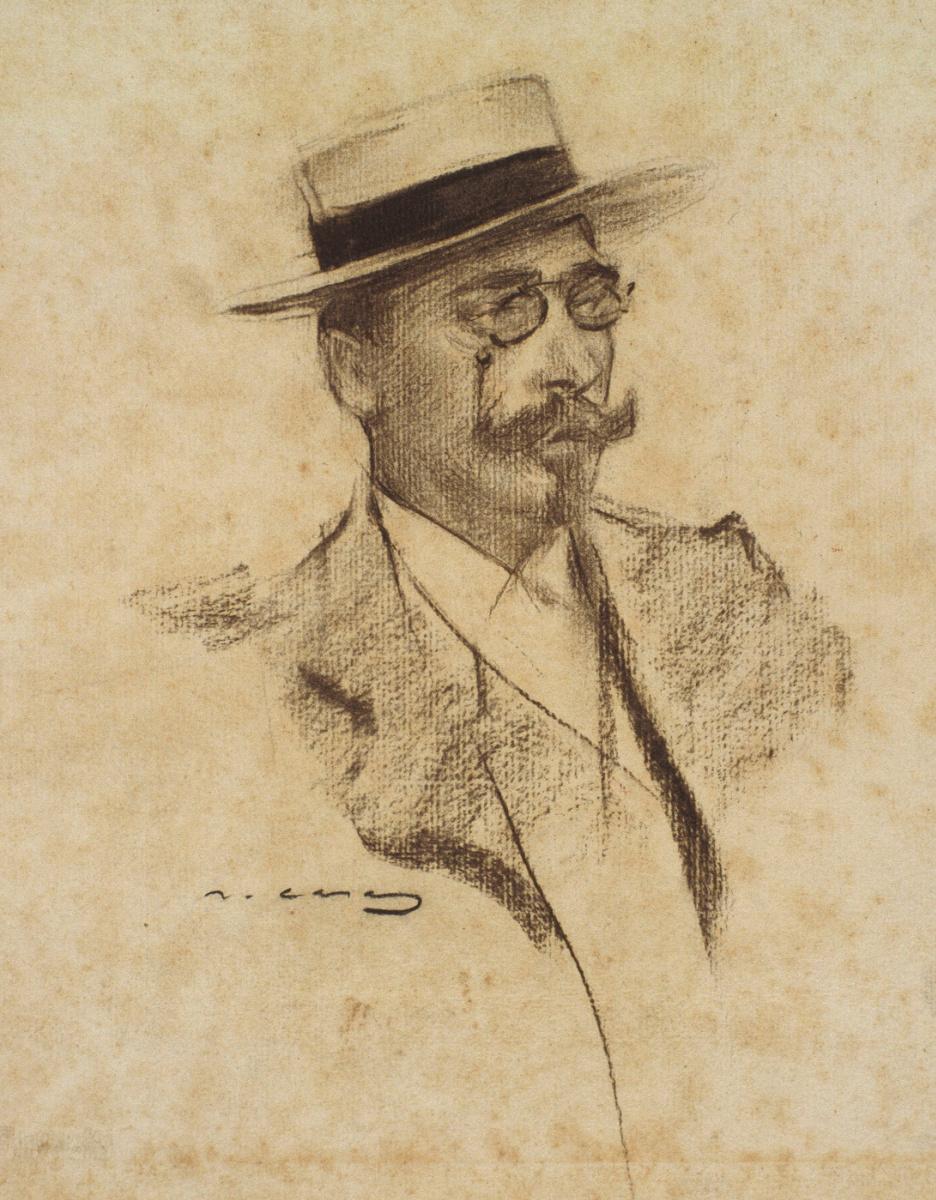 Рамон Касас Карбо. Портрет Анри Франсуа Ружона