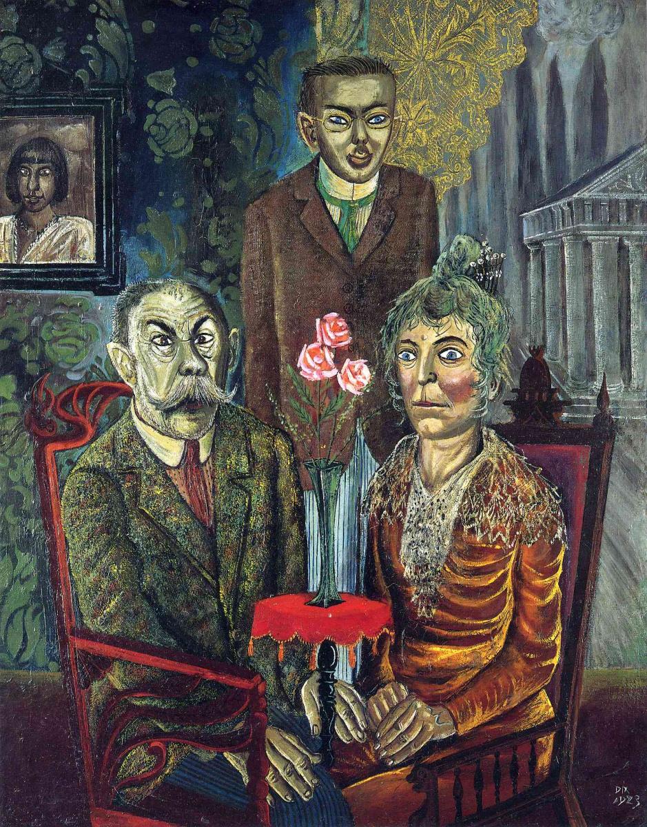 Отто Дикс. Семья художника Адальберта Триллхаса