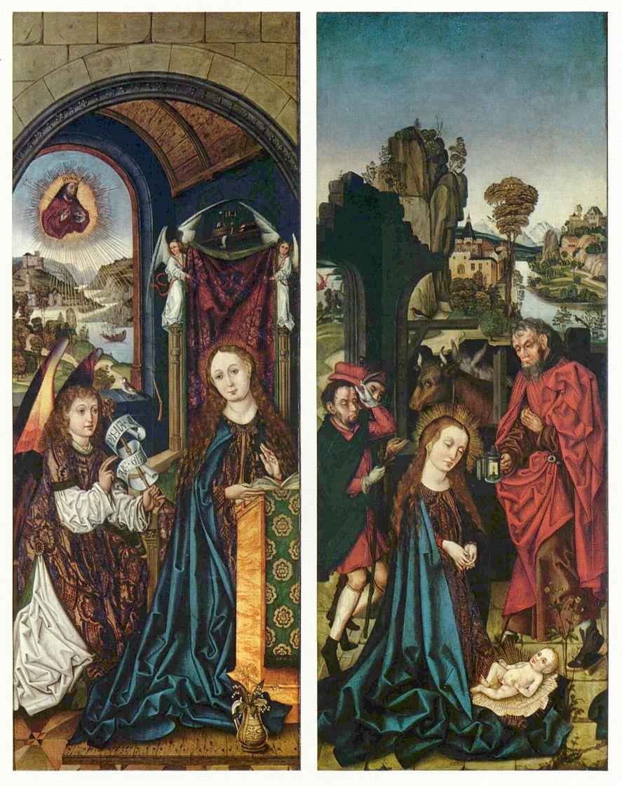 Михаэль Вольгемут. Благовещение Марии и Поклонение младенцу