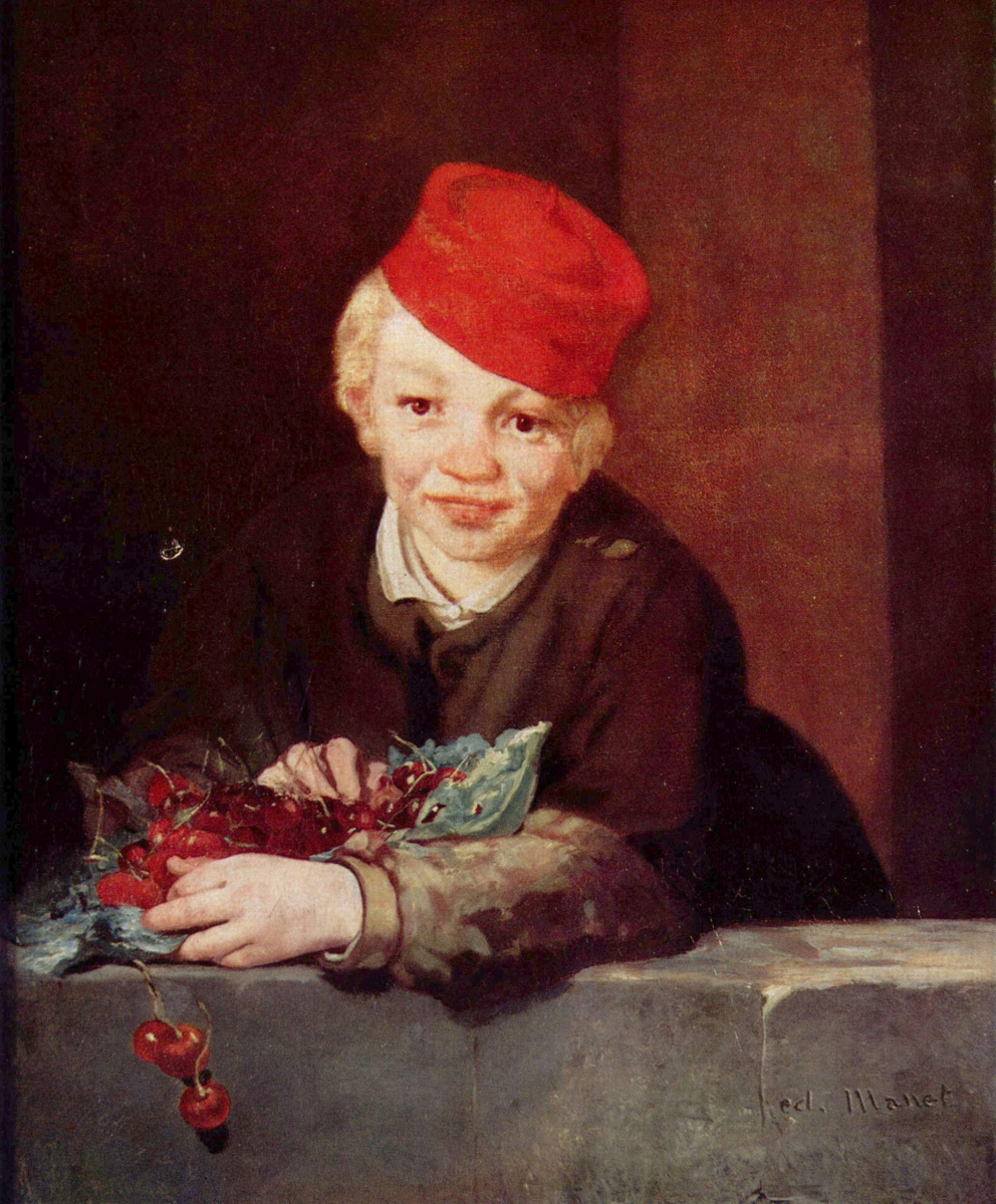 Edouard Manet. The boy with cherries