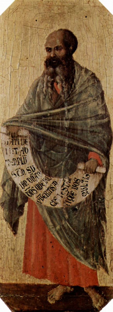 Дуччо ди Буонинсенья. Маэста, передняя часть, основа