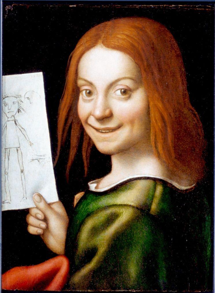 Джованни Франческо Карото. Мальчик с рисунком