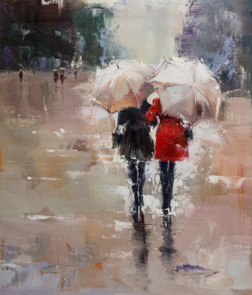 Савелий Камский. Подруги. Прогулка под дождем