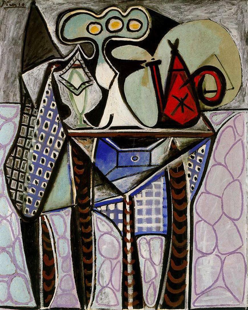 Пабло Пикассо. Натюрморт с кофейником на столе