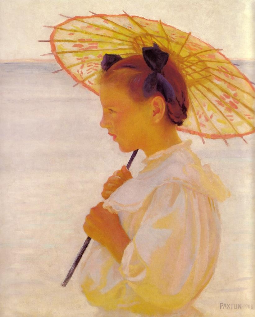 Виллиам Макгрегор Пахтон. Ребенка в солнечном свете или китайский зонтик