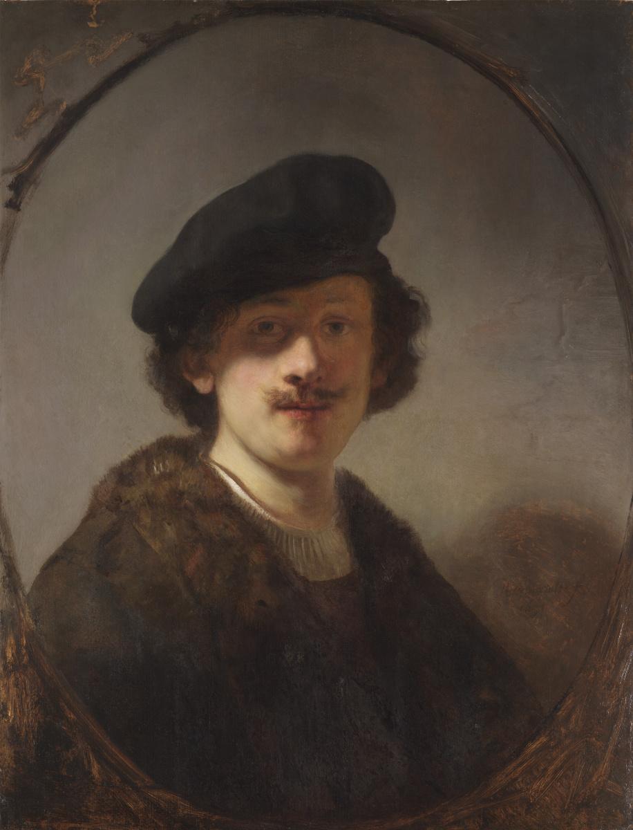Рембрандт Ван Рейн. Автопортрет с затенёнными глазами