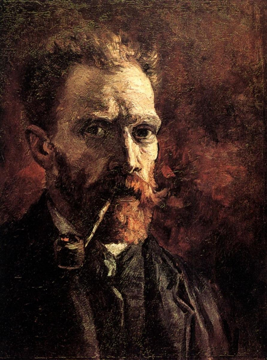 Винсент Ван Гог. Автопортрет с трубкой
