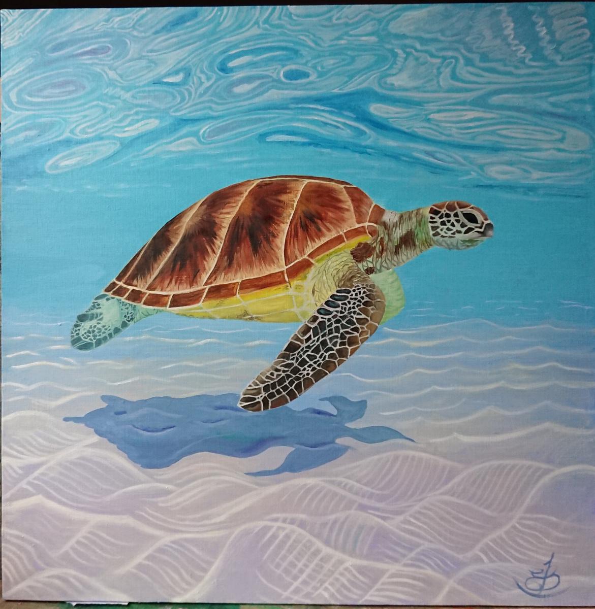 Evgeniya Sharygina. Sea turtle
