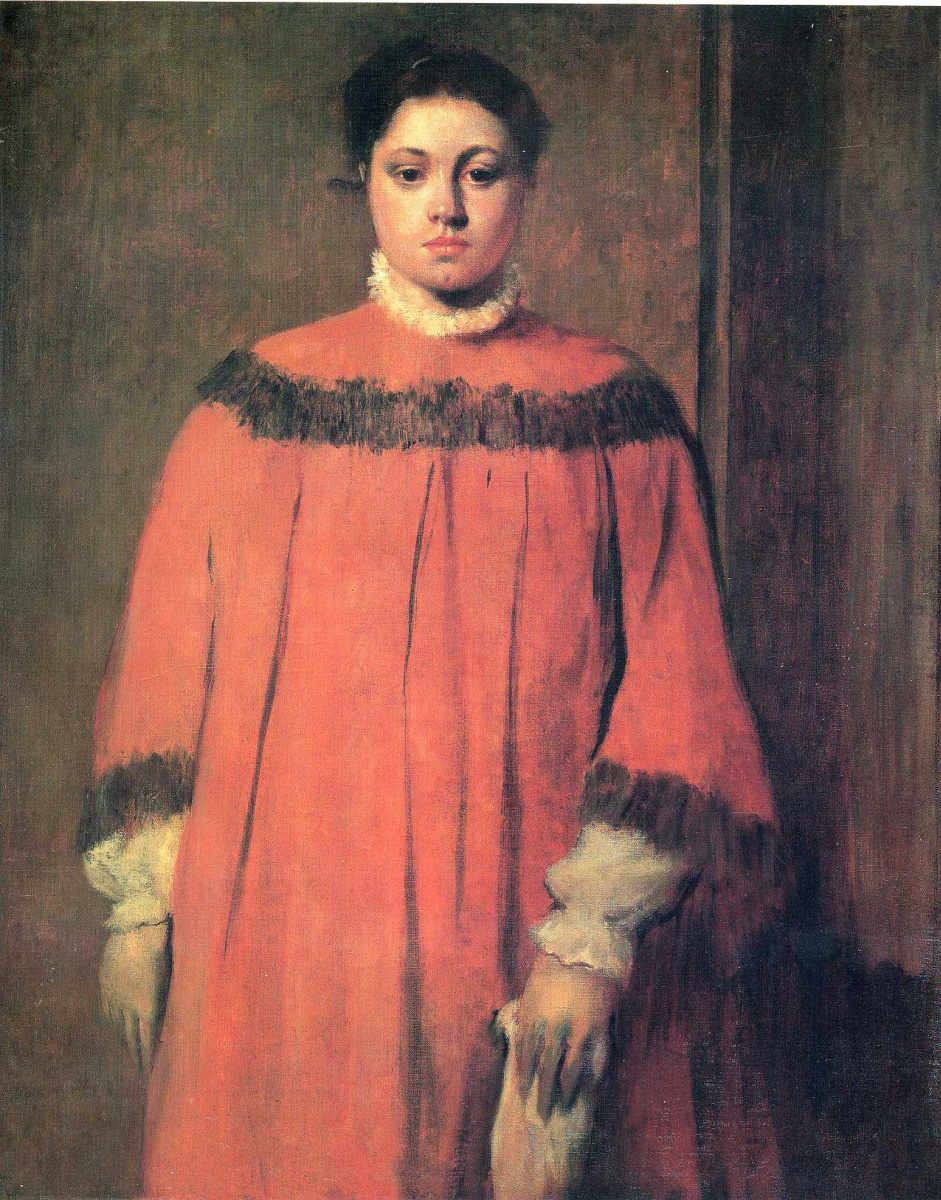 Эдгар Дега. Девушка в красном