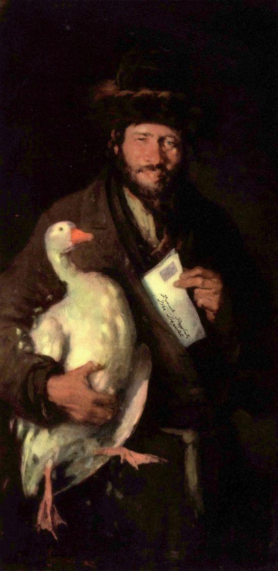 Nicolae Grigorescu. Jew with a goose